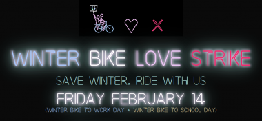 Salvemos el invierno: Winter Bike To Work Day 2020