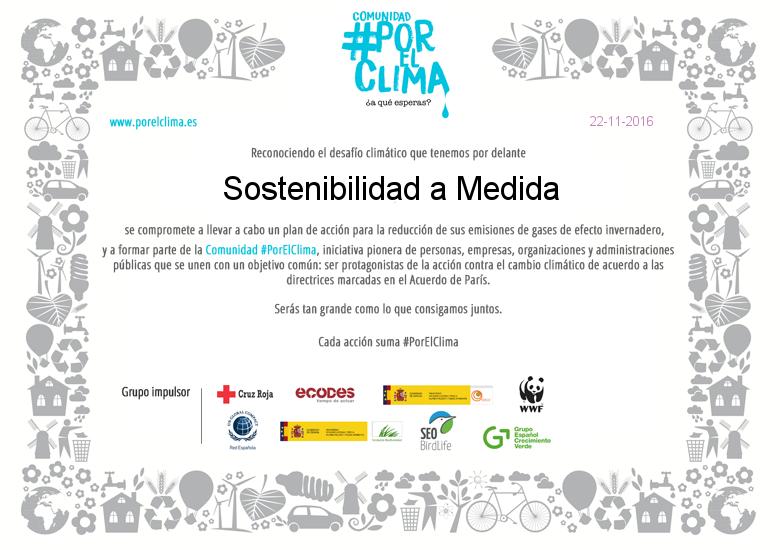 Sostenibilidad a Medida · Comunidad por el Clima